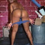 Ebony babe in blue 3