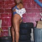 Ebony babe in blue 7